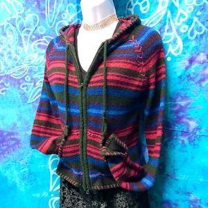 EUC 🍁Bell Sleeves Front-zip Hoodie Sweater